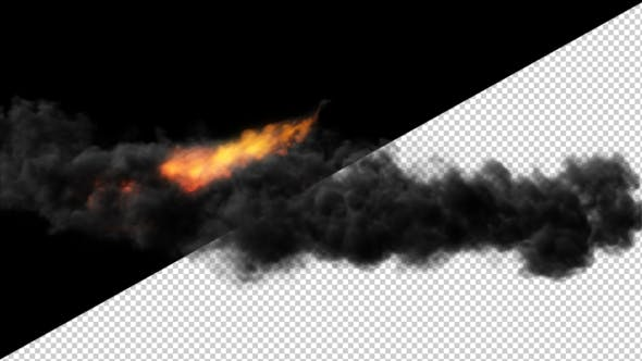 Thumbnail for A Fiery Flame with Volumetric Smoke