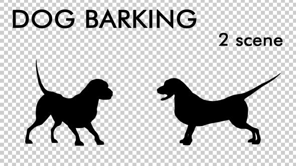 Thumbnail for Dog Barking Silhouette - Looped 2 Scene