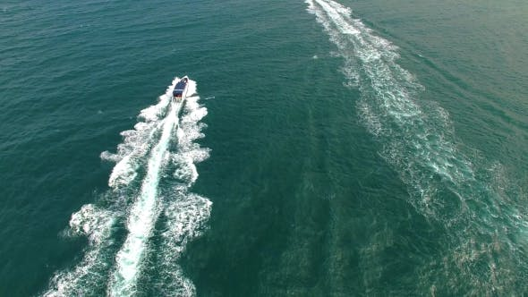 Thumbnail for Aerial View of Sailing Boat in Sea