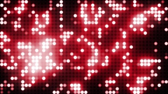 Thumbnail for Red Led Animated VJ Background