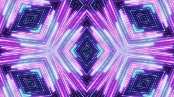 Thumbnail for Neon Abstract Line Animation VJ Background