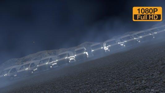 Thumbnail for Commercial truck fleet night