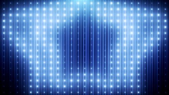 Thumbnail for Blue Glitter Led Loop Animated VJ Background