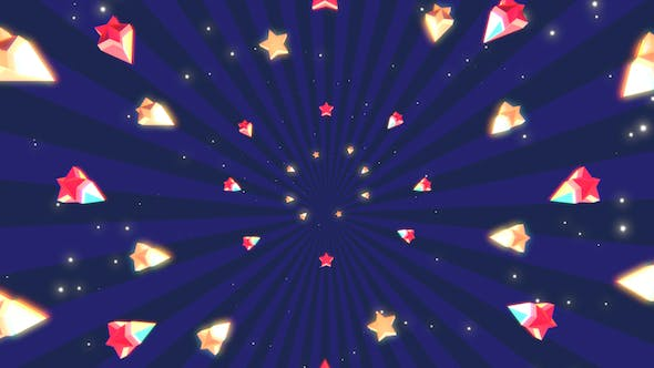 Thumbnail for Cartoon Stars Background