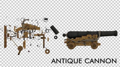 Antike mittelalterliche Kanone