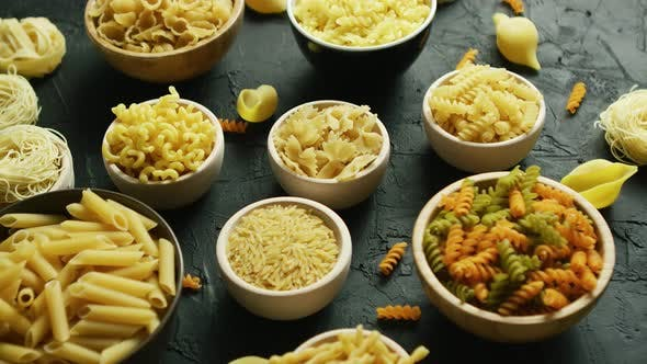 Thumbnail for Different Kinds of Macaroni Put in Bowls