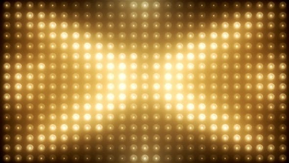 Thumbnail for Gold Led Loop Animated VJ Background