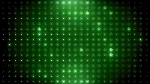 Thumbnail for Green Led Loop Animated VJ Background