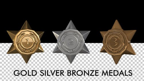 Medals - Gold Silver Bronze