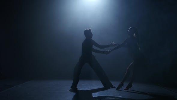 Thumbnail for Dance Element From the Latin American Program, Silhouette Couple Ballroom