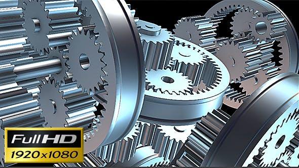 Thumbnail for Zahnräder Rotation Loop Hintergrund #3