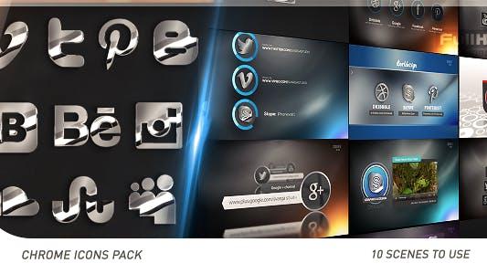 Thumbnail for Social Chrome Icons Pack