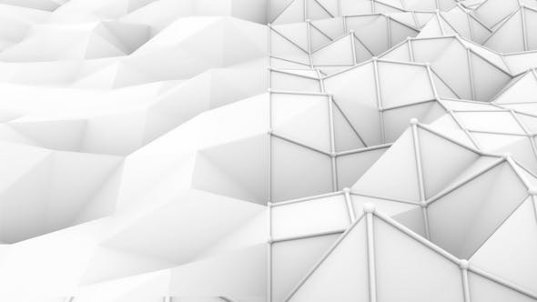 Cover Image for White Low Poly Background