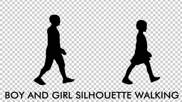 Thumbnail for Girl and Boy - Kids Silhouettes