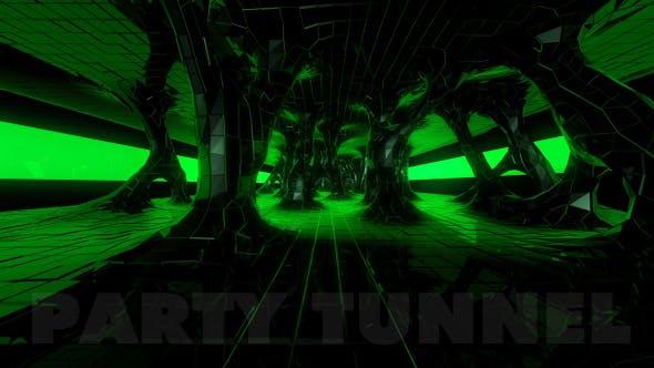 Thumbnail for VJ Tunnel  Green - Infinite Loop