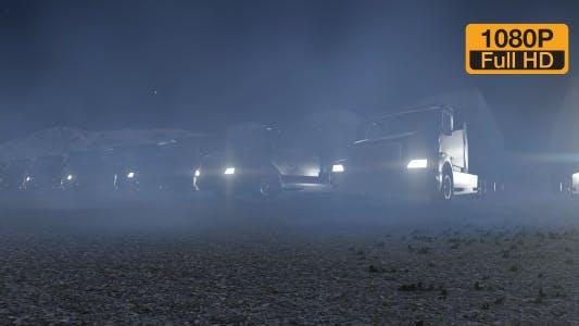 Thumbnail for Trucks at Night