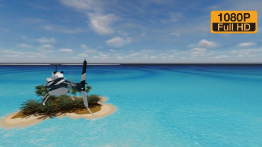 Thumbnail for Helicopter on Island