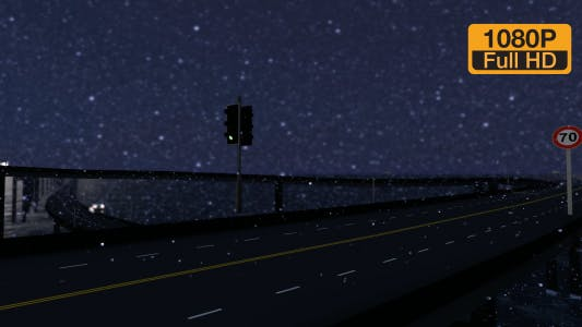 Thumbnail for Snowy Traffic at Night