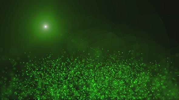 Thumbnail for Green Magical Mist in the Sunlight Background