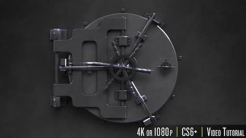 Safe Unlock Logo Reveal
