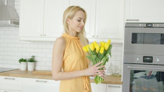 Thumbnail for Tender Female Holding Bouquet