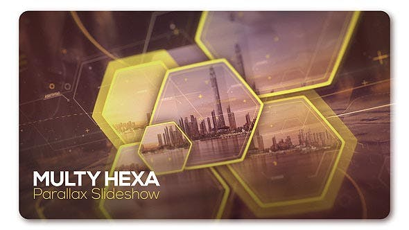 Thumbnail for Parallax Slideshow Multi Hexa