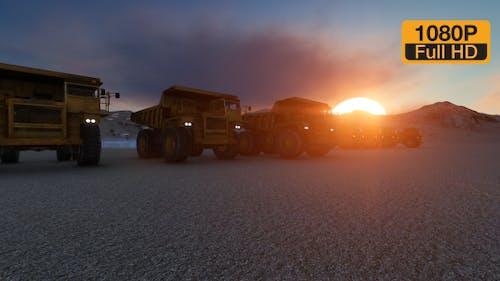 Building Construction Truck Sunset