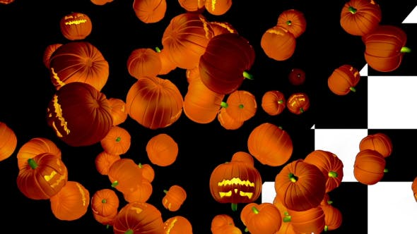 Falling Halloween Pumpkins Loop
