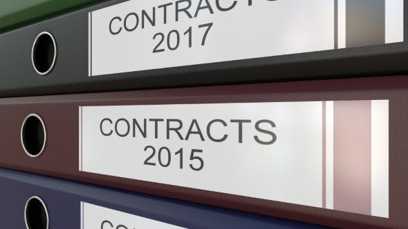 Thumbnail for Office Binders with Contracts Tags Different Years