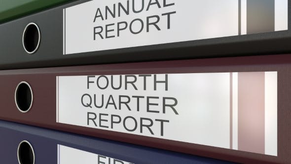 Thumbnail for Office Binders with Quarter and Annual Reports Tags