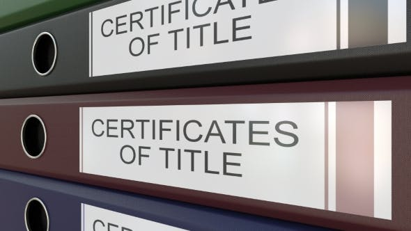 Thumbnail for Office Binders with Certicicates of Title Tags
