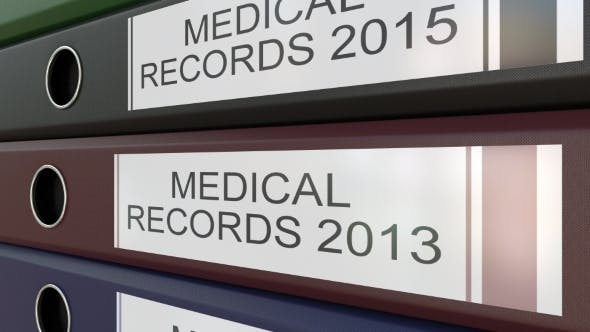 Thumbnail for Office Binders with Medical Records Tags Different Years