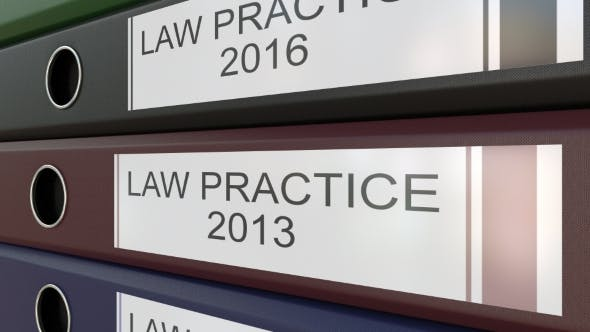 Thumbnail for Office Binders with Law Practice Tags Different Years