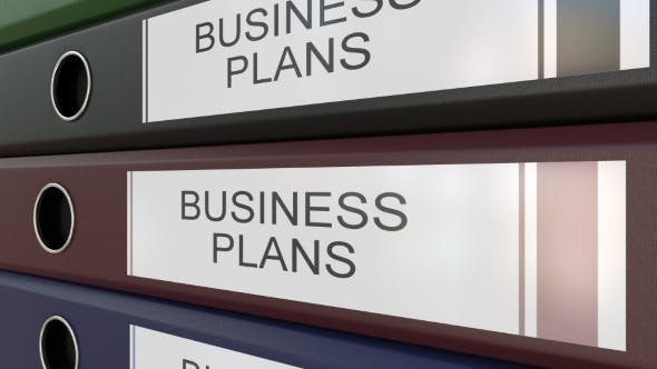 Thumbnail for Office Binders with Business Plans Tags Different Years