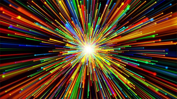 Cover Image for Colorful Particles Starfield