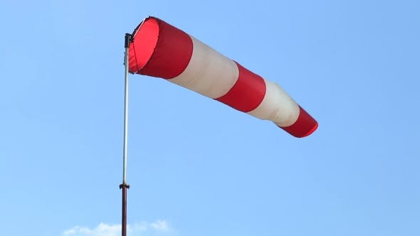 Thumbnail for Cone-wind Indicator Against a Blue Sky