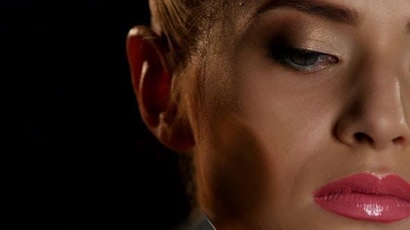 Thumbnail for Professional Make Up. Brush. Black. Closeup