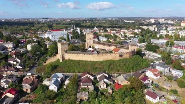 The Lubart Castle in Ukraine. Cityscape Lutsk
