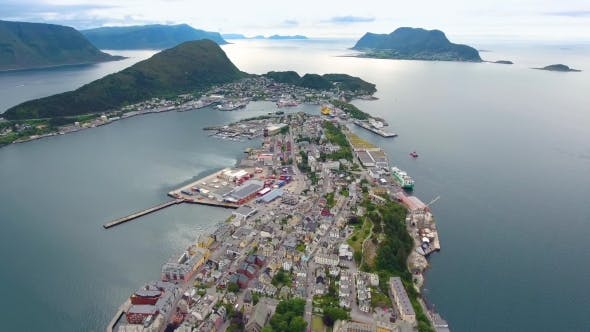 Thumbnail for City of Alesund Norway Aerial Footage