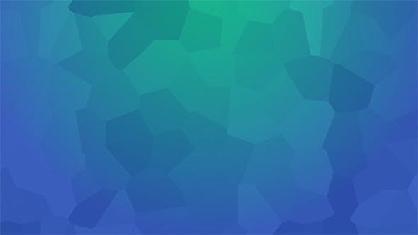 Thumbnail for Vibrant Blue Polygonal Background 4K