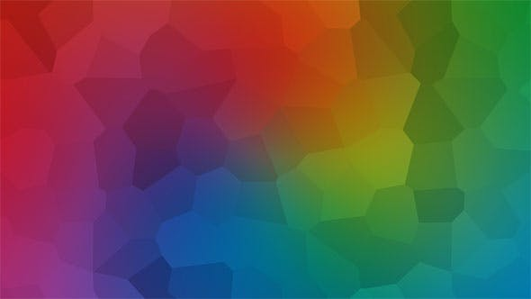 Vibrant Colorful Polygonal Background