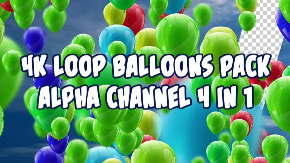 Thumbnail for 4K Ballons Pack V3 4 in 1