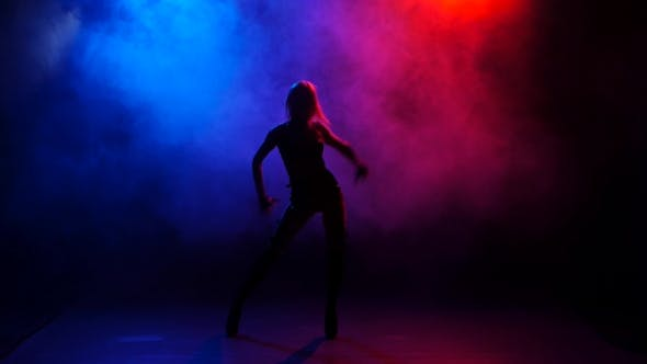 Thumbnail for Sexy of Go-go Dancer Performing on Stage in Bright Lights