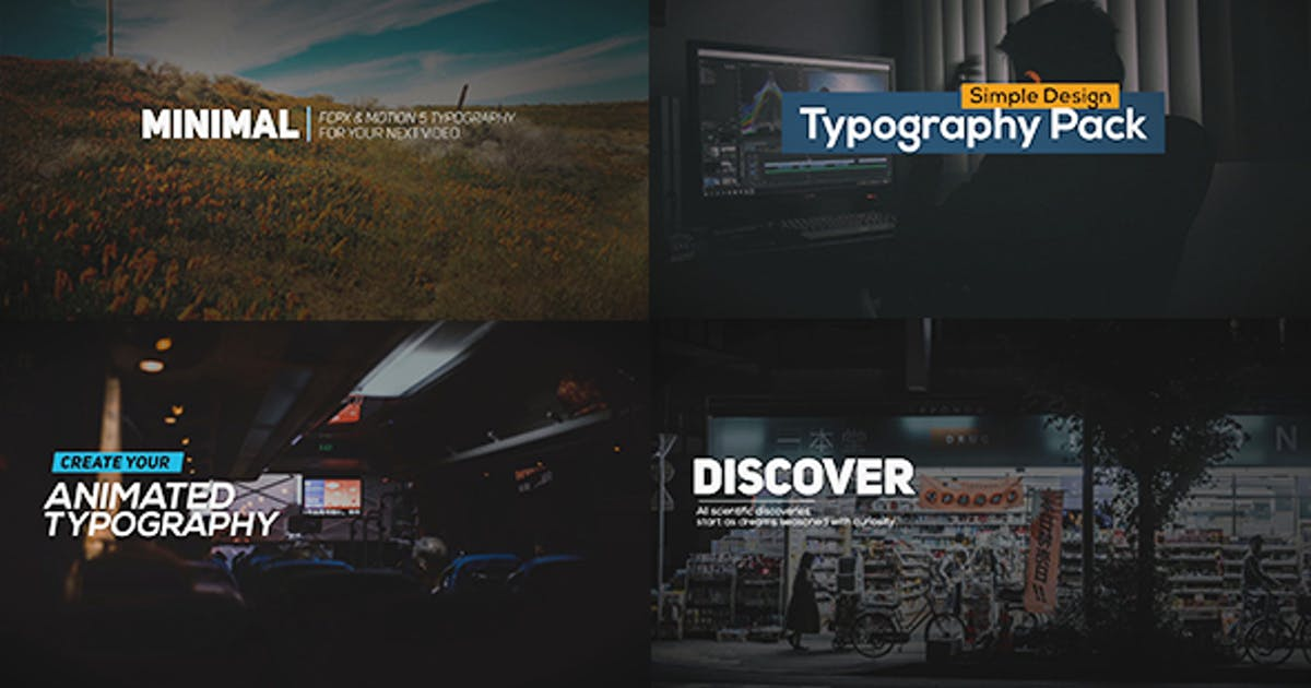 Download FCPX Animated Typography Titles by afteryou