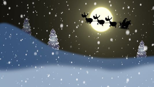 Thumbnail for Silhouettes Of Santa And Reindeer
