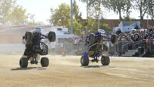 Thumbnail for Stunt Quad Cross Riders Slow Motion