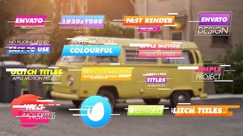 Colourful Glitch Titles