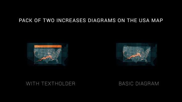 Thumbnail for Pack of Two Increases Diagrams on the Map of USA HD