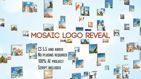 Thumbnail for Mosaic Logo Reveal | After Effects Template