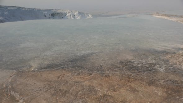 Thumbnail for Limestone Travertine with a Steam at Hierapolis Hot Springs, Pamukkale, Turkey